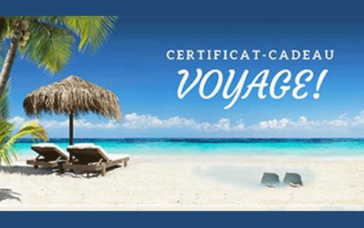 1 000$ échangeable le Club Voyages Dumoulin