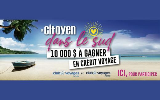 5 000$ sous forme de crédit voyage
