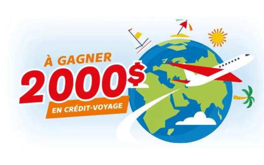 Crédit voyage Gestion PS Tour inc. de 2000$