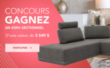 Un sofa sectionnel d'une valeur de 3 549$