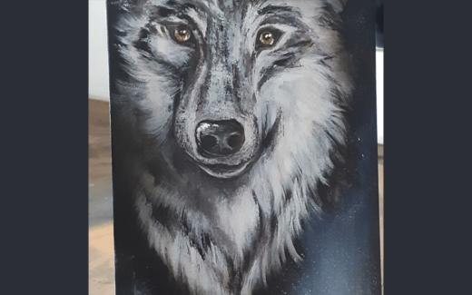 Une toile personnalisée sur mesure de la valeur de 500$
