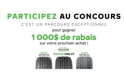 1000$ pour l'achat de pneus Nokian Tyres