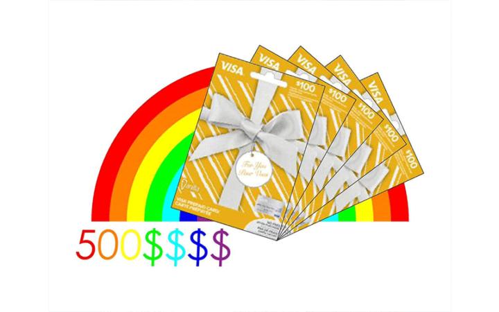 500$ de carte visa prépayée