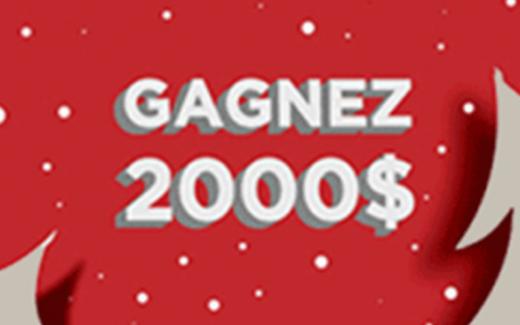 Chèque de deux mille (2000) dollars canadiens
