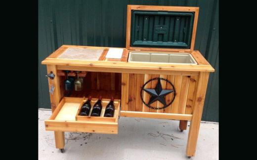 Meuble rustique pour le rangement de vos bouteilles de vin