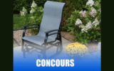 Une chaise oscillante de notre collection Kaza