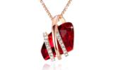 Collier Swarovski Elements Crystal Ruby Red