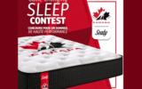Grand matelas de série limitée Hockey Canada de marque Sealy
