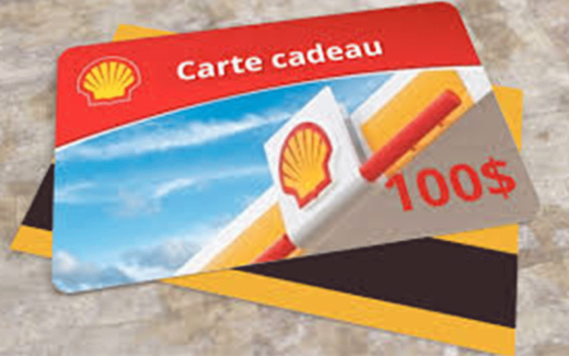 Une carte Shell de 100$