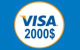 Une carte-cadeau Visa de 2 000 $