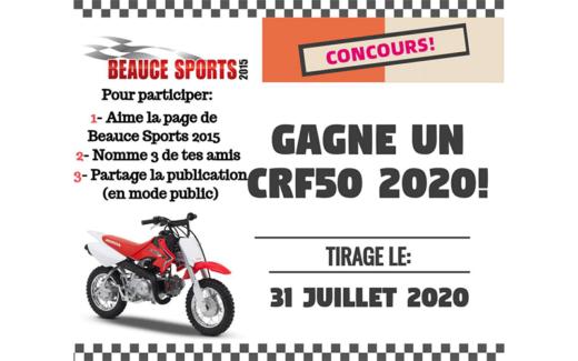 Une moto CRF50 2020