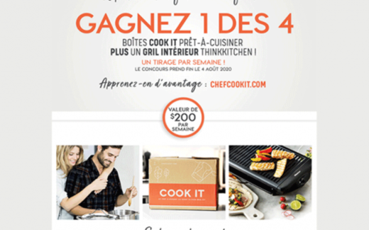 1 des 4 boîtes Cook it + un gril intérieur Thinkkitchen 2020