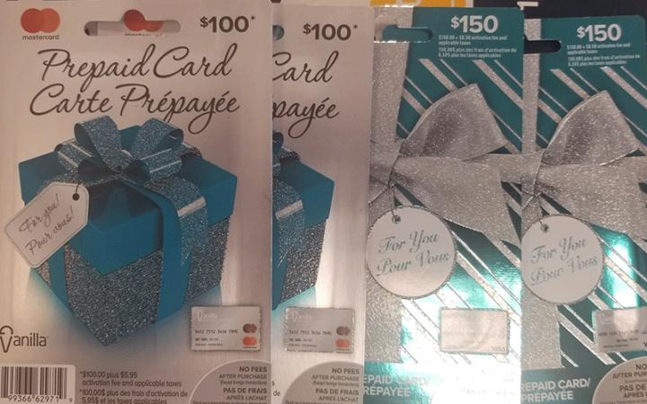 500$ en cartes cadeaux