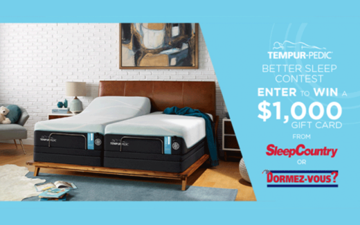Carte-cadeau Sleep Country Canada Dormez Vous de 1 000 $