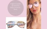 Paire de lunettes roses de style aviateur
