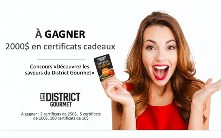 Un total de 2000$ au District Gourmet Sainte-Foy