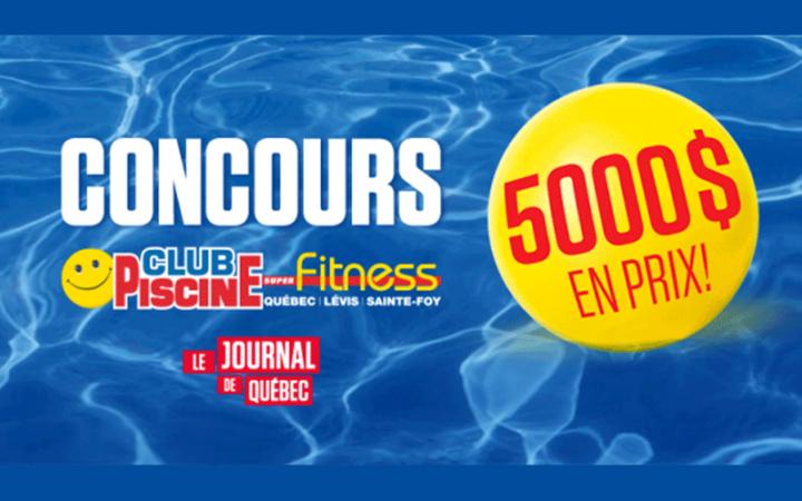 Une carte-cadeau de 1000$ chez Club Piscine Super Fitness