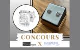 Une paire de boucle d'oreille cz sur argent 925 plaqué rhodium Larus