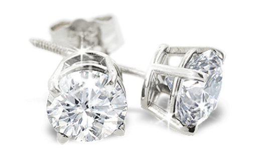 Boucles d'oreilles en diamants
