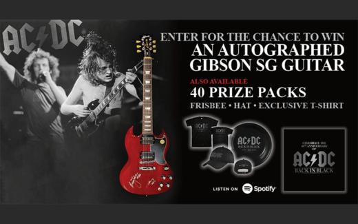 Guitare Gibson SG signée par des membres d'AC DC