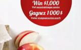 1 000 $ en argent comptant pour votre épicerie
