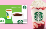 10 cartes-cadeaux Starbucks