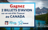 2 billets d'avion sur un vol d'Air Transat