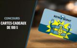 5 cartes-cadeaux réno-dépot de 100$ chacune