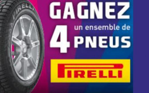 Un ensemble de pneus d'hiver Pirelli