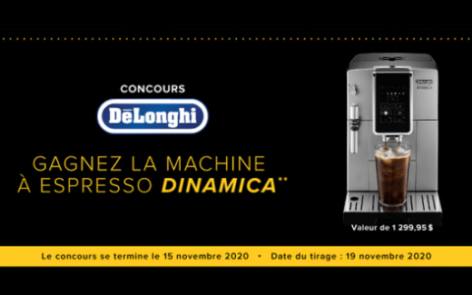 Une machine à Espresso Dinamica de 1300$