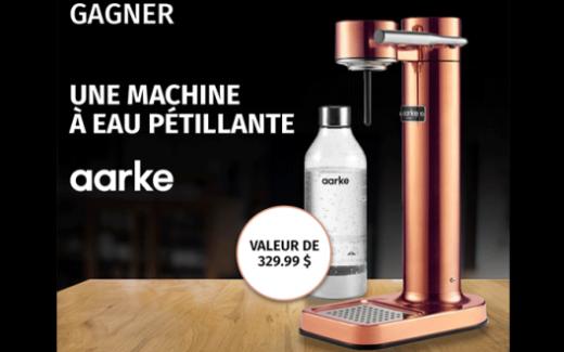 Une machine à eau pétillante AARKE