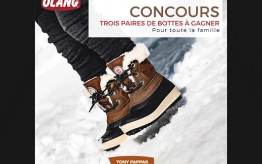 3 paires de bottes d'hiver Olang
