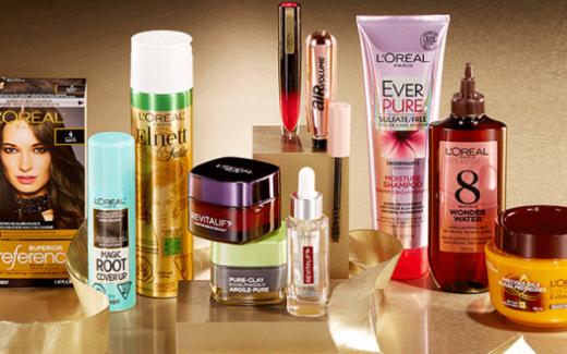5 packs de produits L'Oréal de 205$
