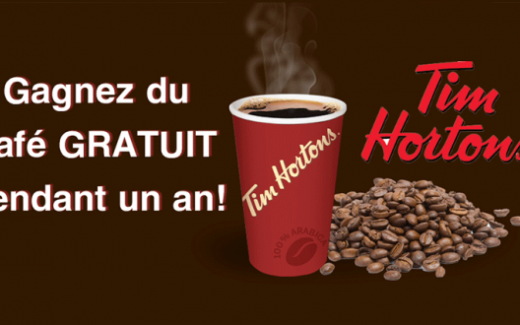 Café gratuit par jour pendant un an