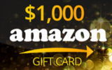 Carte-cadeau Amazon d'une valeur de 1000 $