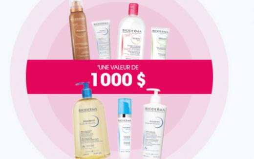 Un an de produits Bioderma (Valeur de 1000 $)