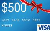 Une carte-cadeau prépayée de 500$