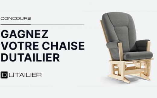 Une chaise berçante Dutailier