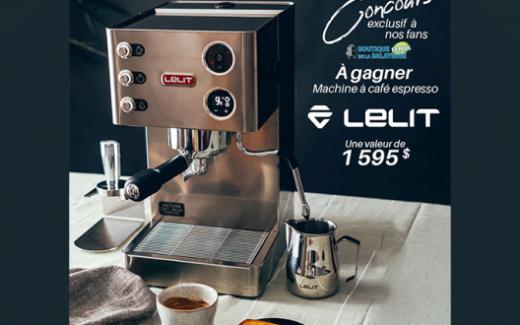 Une machine à café espresso LELIT Canada de 1595 $