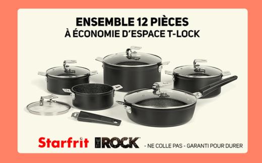 Batterie de cuisine 12 pièces Starfrit The Rock