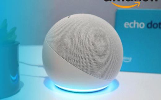 Un Echo Dot 4e génération d'Amazon