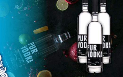 Un coffret cadeau Pur Vodka