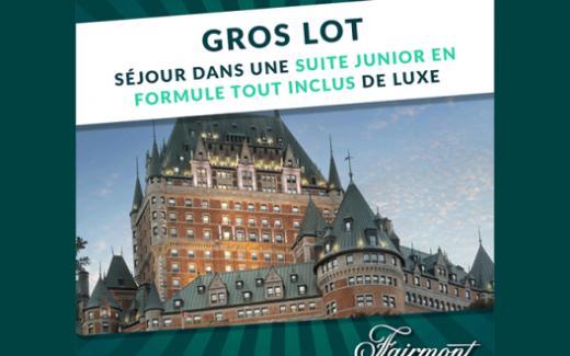 Un séjour tout inclus de luxe au Château Frontenac