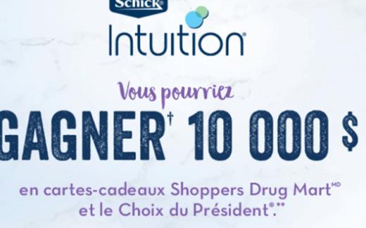 10 000$ en cartes cadeaux Pharmaprix et Le Choix du Président