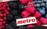 100 cartes cadeaux épicerie Metro de 100$