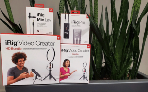 3 ensembles de création vidéo iRig d'IKM