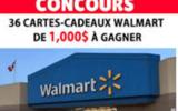 36 cartes-cadeaux Walmart de 1000$