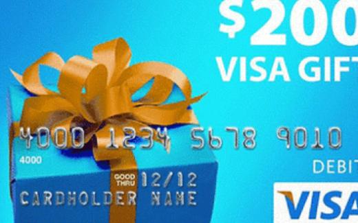 6 cartes prépayées Visa de 200$