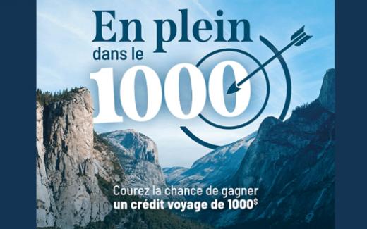 Un crédit voyage de 1000$