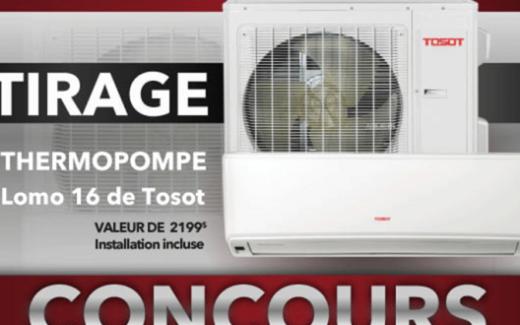 Une thermopompe Lomo 16 de Tosot